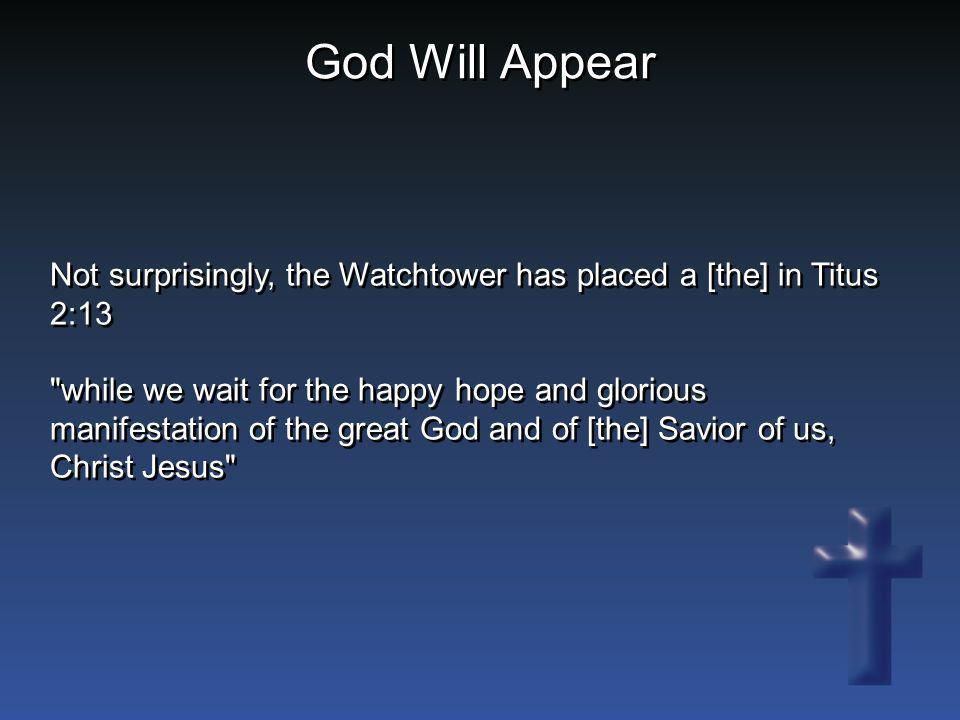 God Will Appear