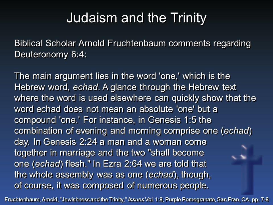 Judaism and the Trinity