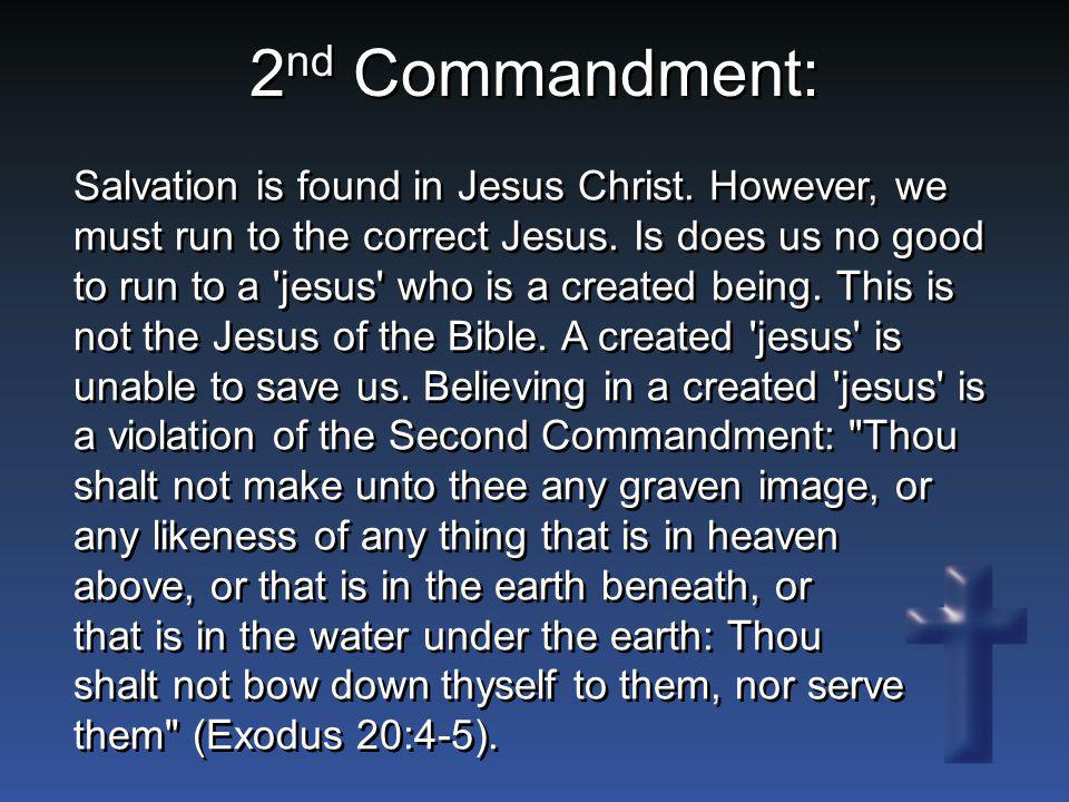2nd Commandment: