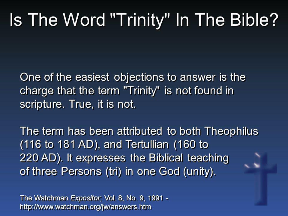 Is The Word Trinity In The Bible