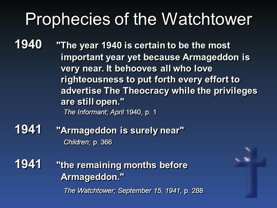 Prophecies of the Watchtower