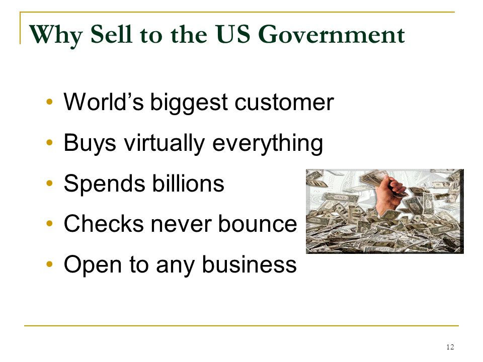 Why Sell to the US Government