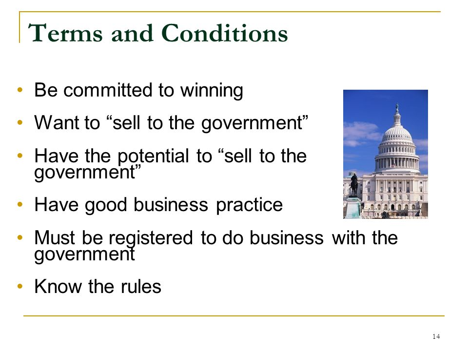 Terms and Conditions Be committed to winning