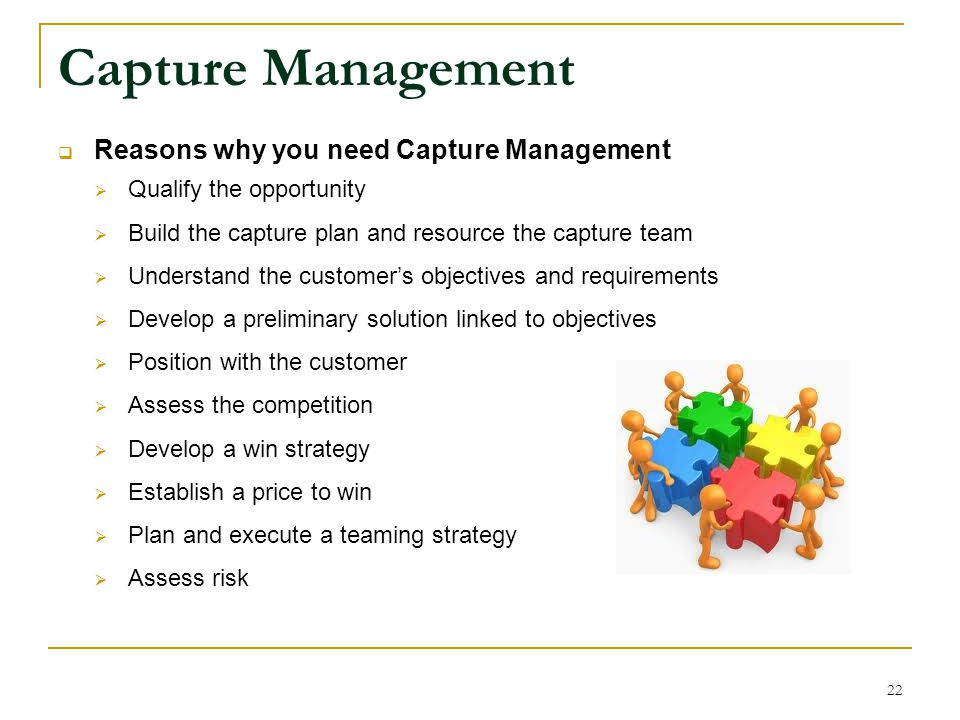 Capture Management Reasons why you need Capture Management