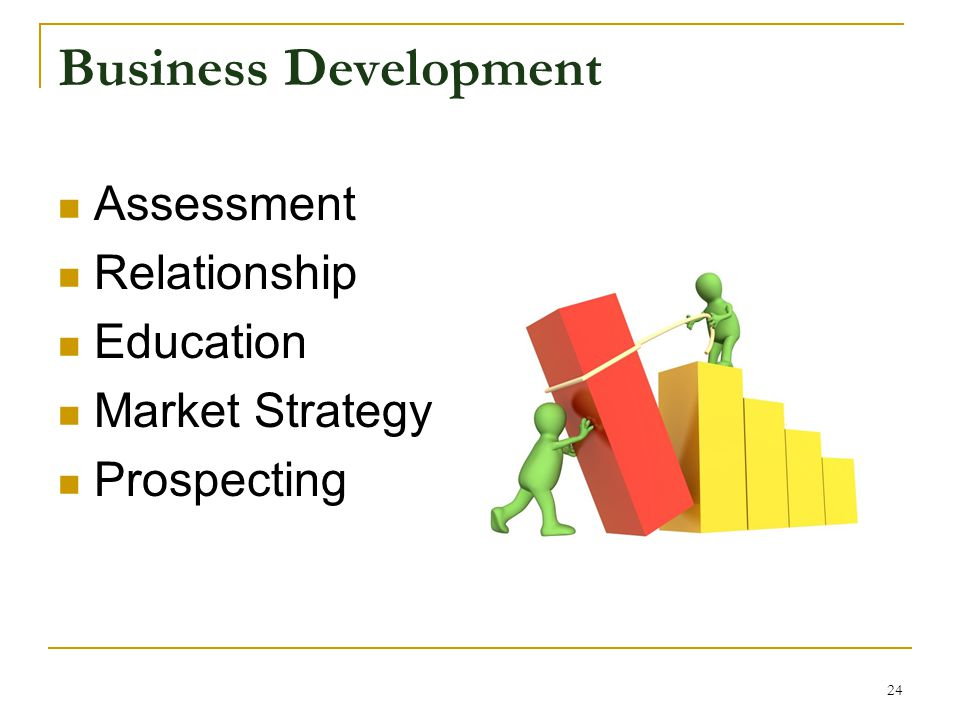 Business Development Assessment Relationship Education Market Strategy