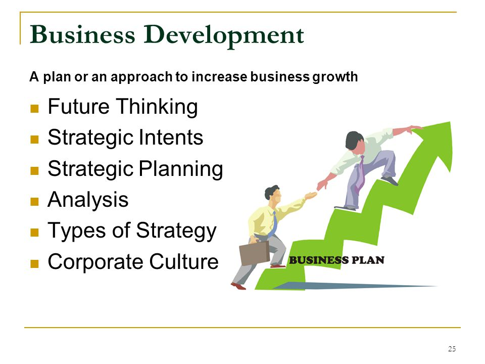 Business Development Future Thinking Strategic Intents