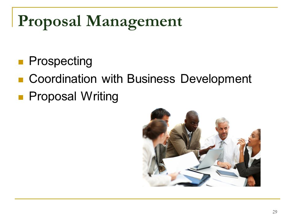 Proposal Management Prospecting Coordination with Business Development