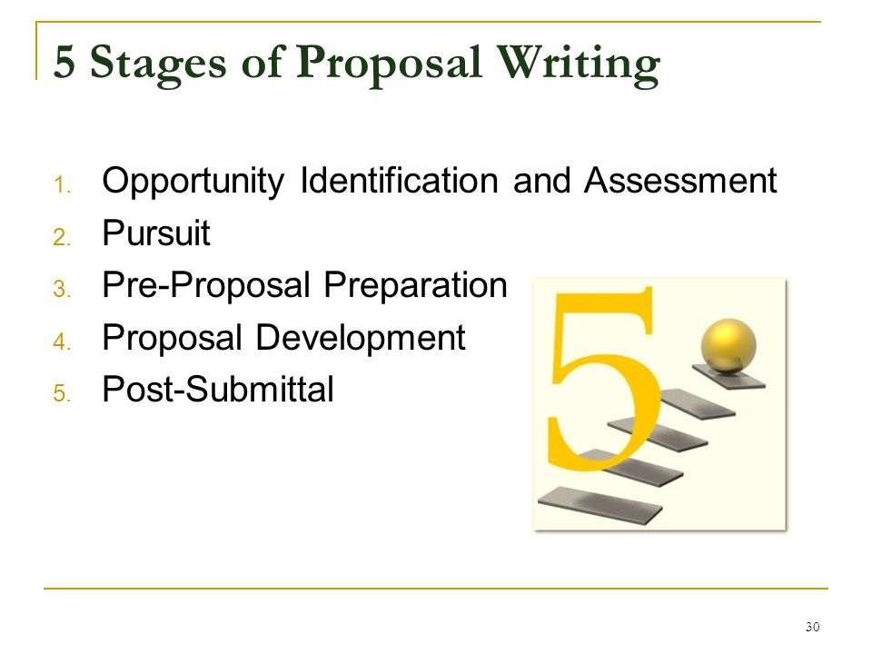 5 Stages of Proposal Writing