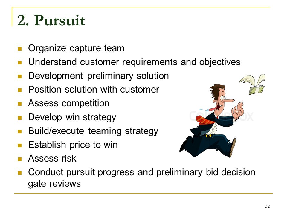 2. Pursuit Organize capture team