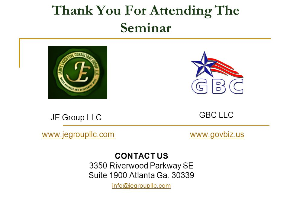 Thank You For Attending The Seminar