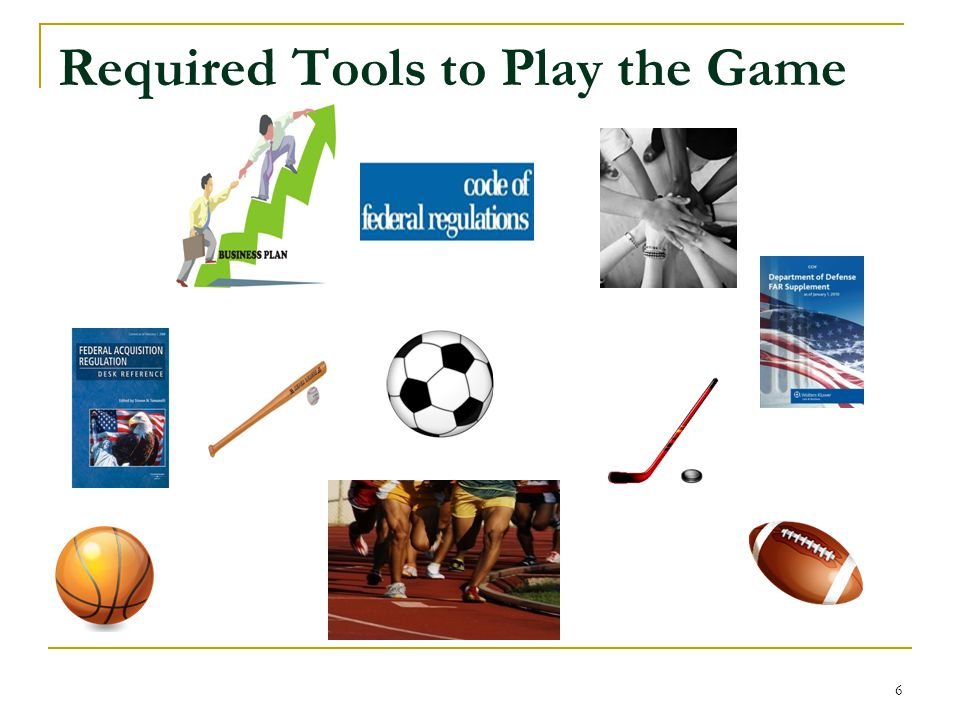 Required Tools to Play the Game