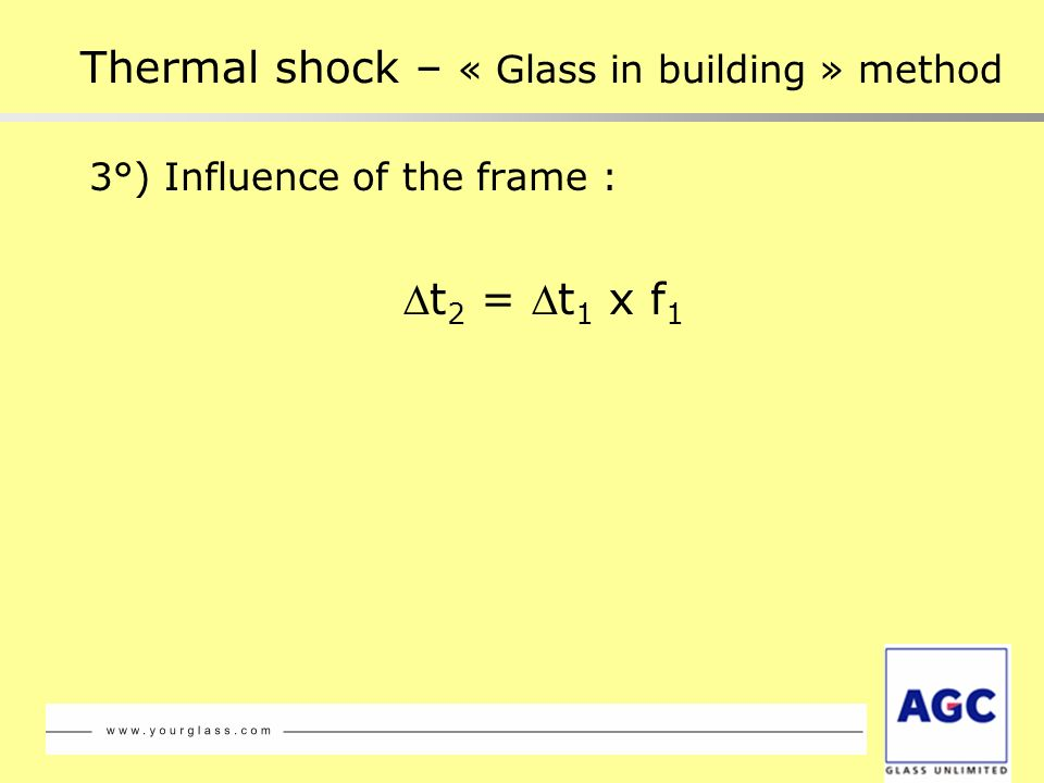 Thermal shock – « Glass in building » method