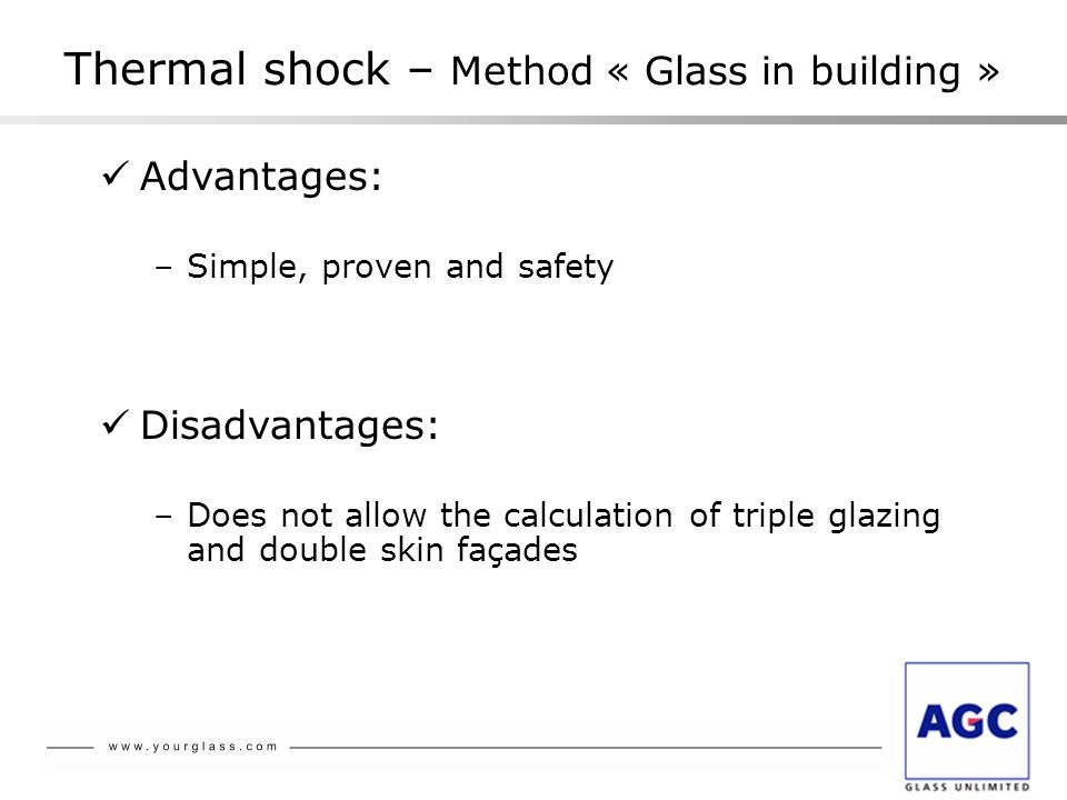 Thermal shock – Method « Glass in building »