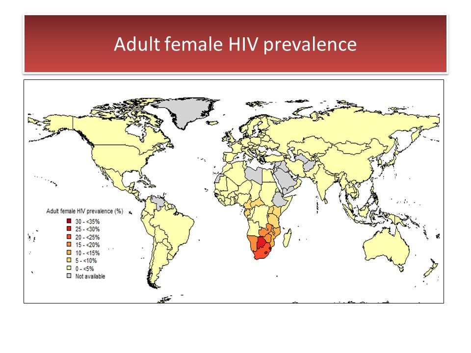 Adult female HIV prevalence