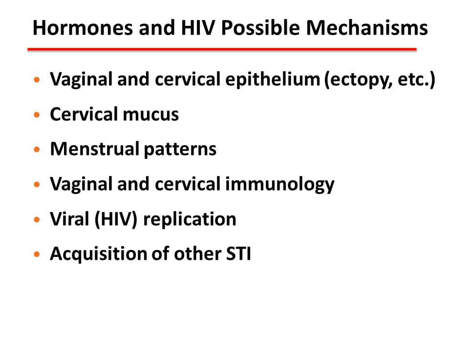 Hormones and HIV Possible Mechanisms
