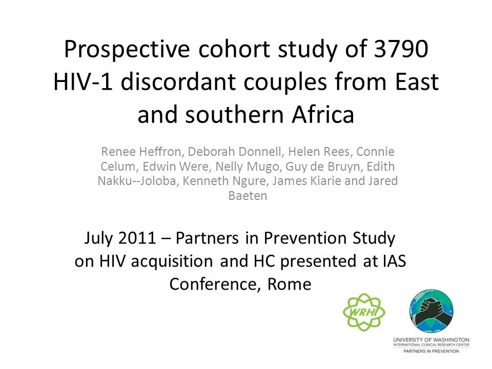 Prospective cohort study of 3790 HIV-­1 discordant couples from East and southern Africa