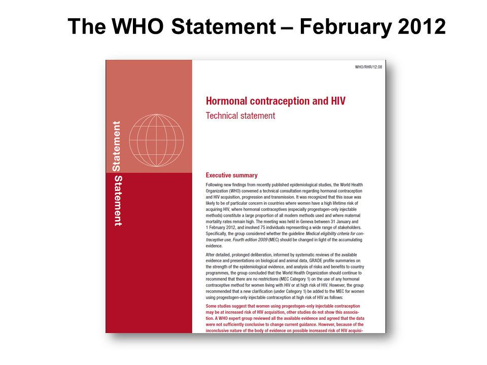 The WHO Statement – February 2012