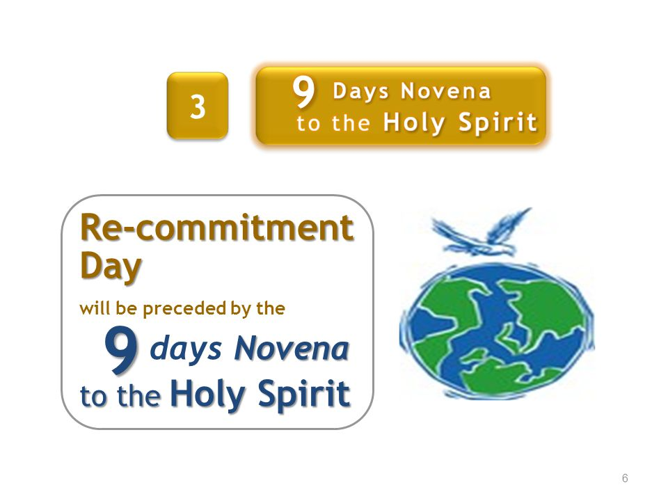 9 9 Re-commitment Day 3 days Novena to the Holy Spirit