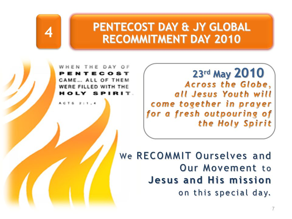 PENTECOST DAY & JY GLOBAL