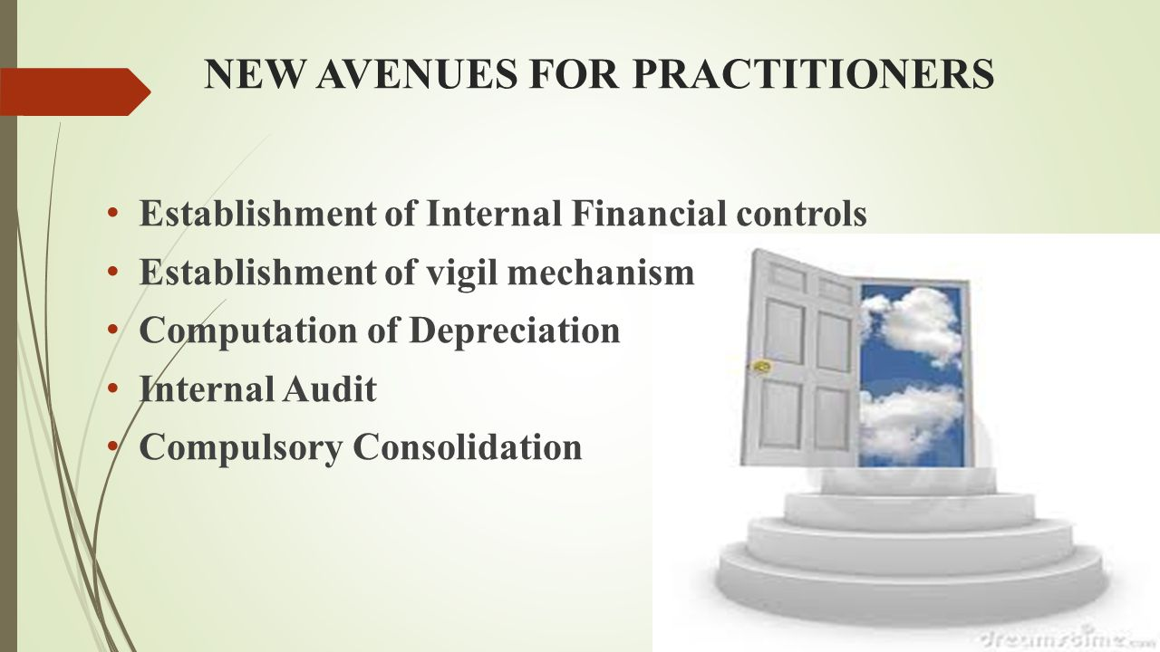 NEW AVENUES FOR PRACTITIONERS