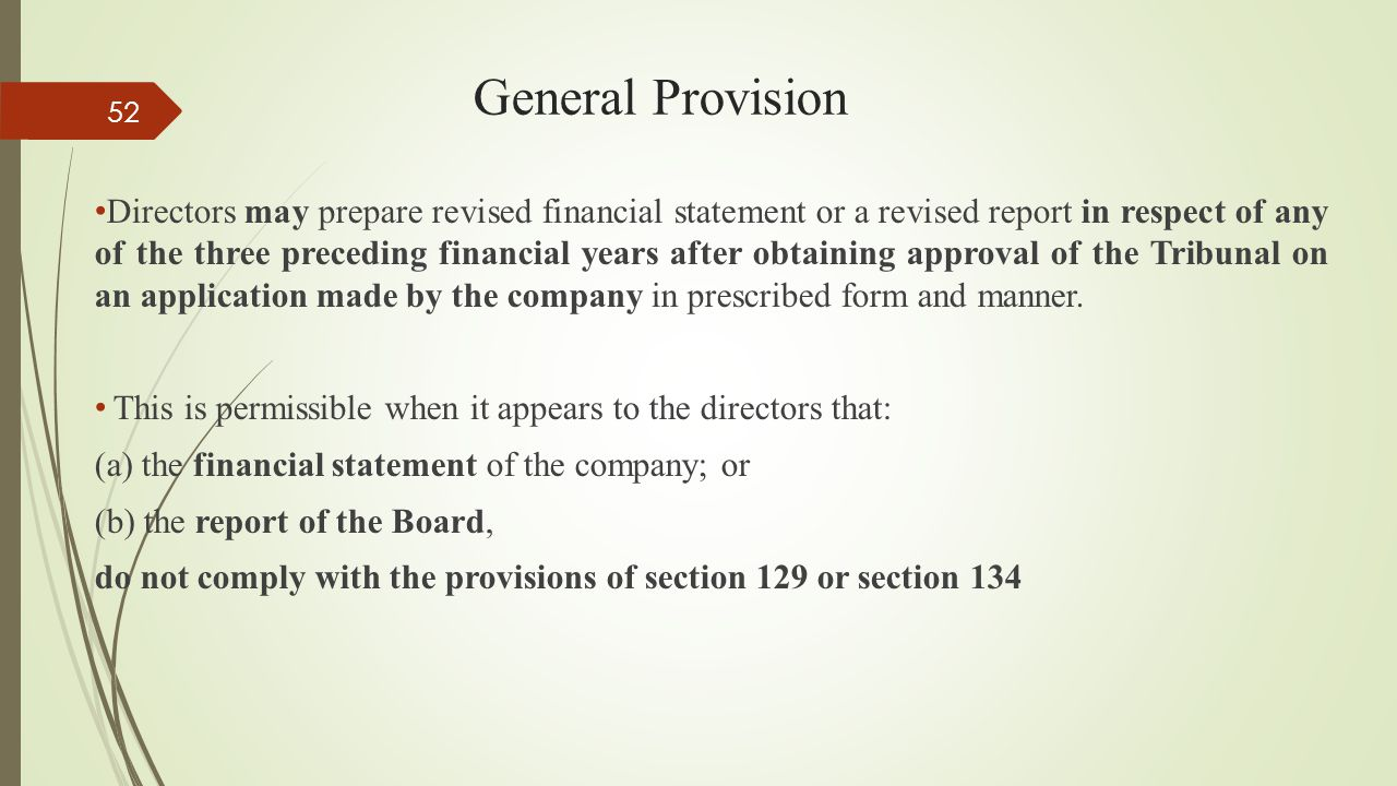 General Provision