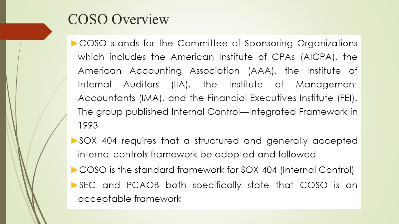 COSO Overview