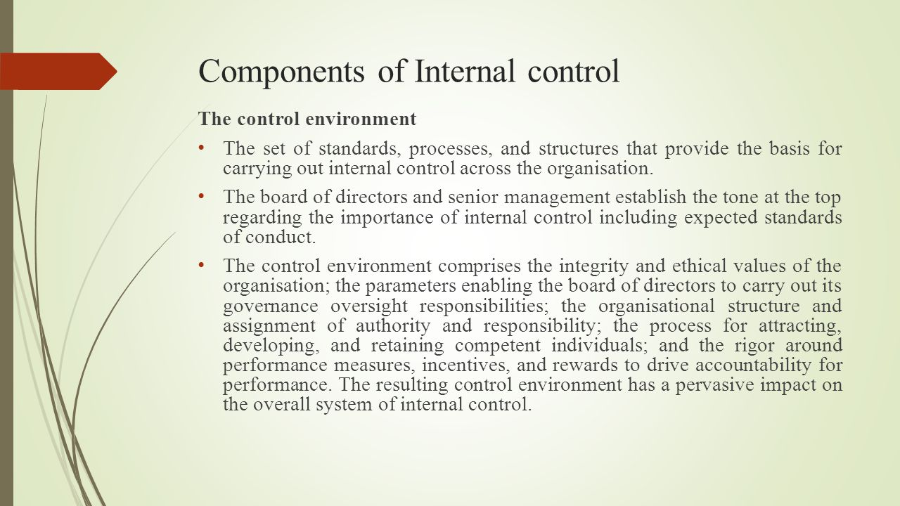 Components of Internal control