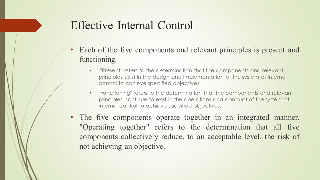 Effective Internal Control