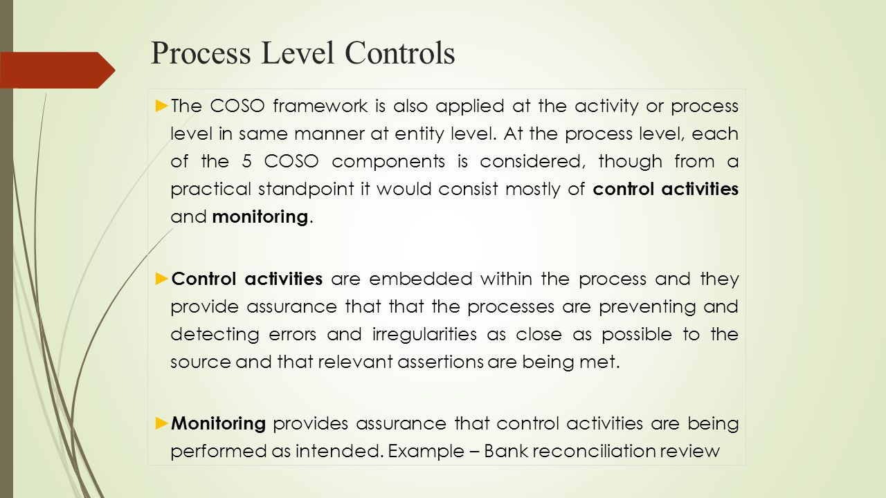 Process Level Controls