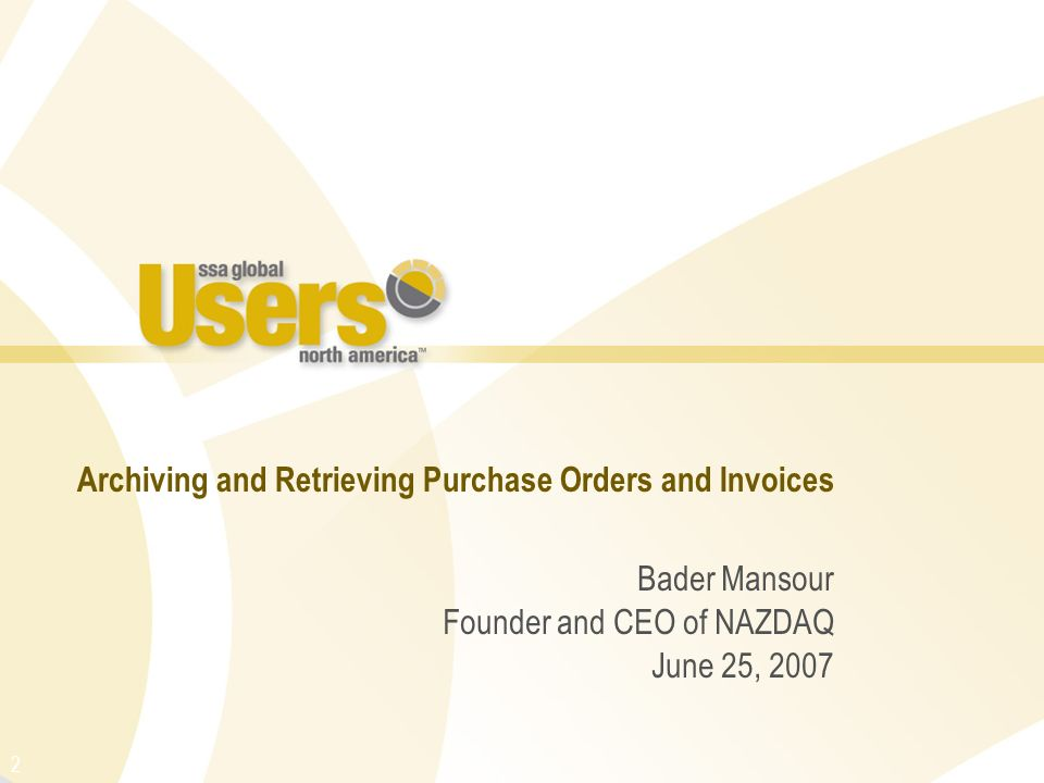 Archiving and Retrieving Purchase Orders and Invoices