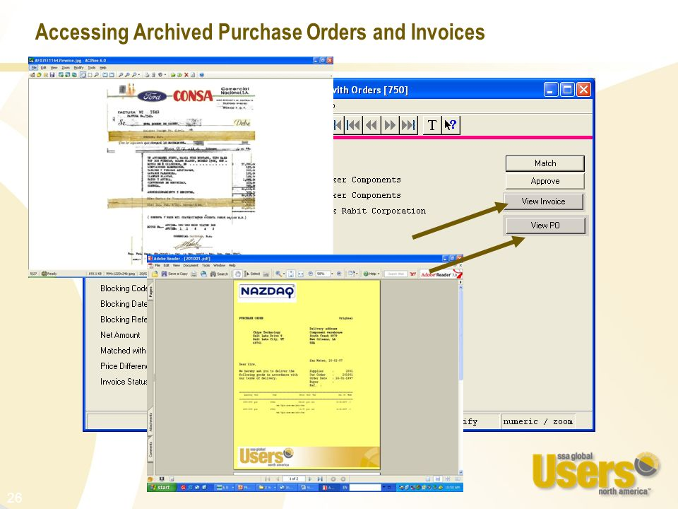 Accessing Archived Purchase Orders and Invoices