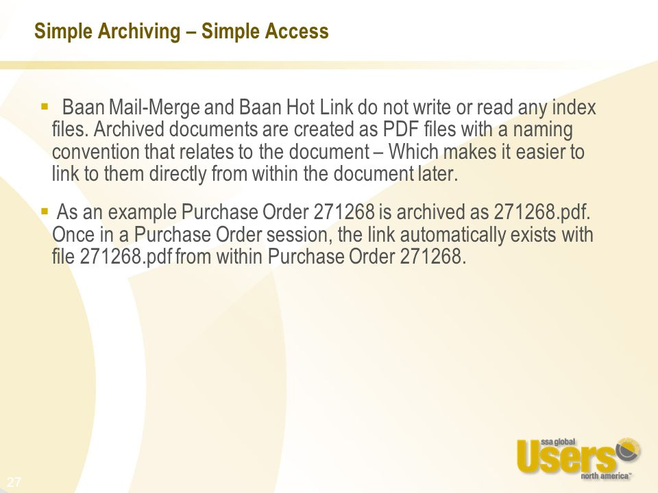Simple Archiving – Simple Access