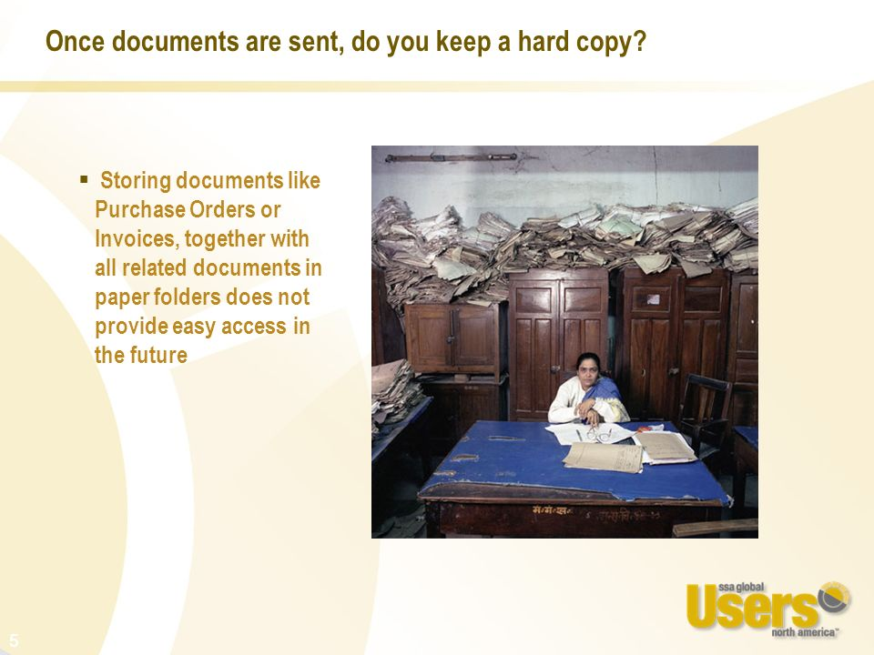 Once documents are sent, do you keep a hard copy