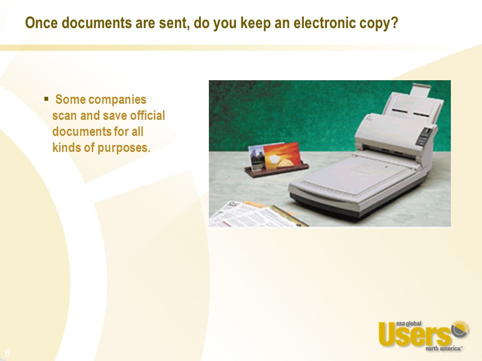 Once documents are sent, do you keep an electronic copy