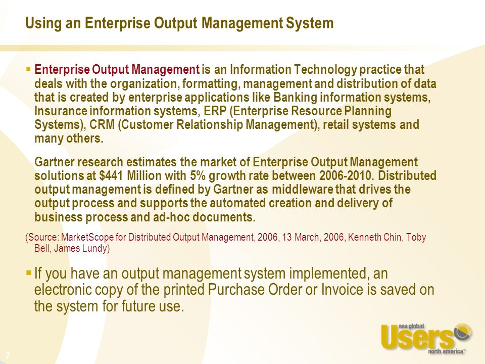 Using an Enterprise Output Management System