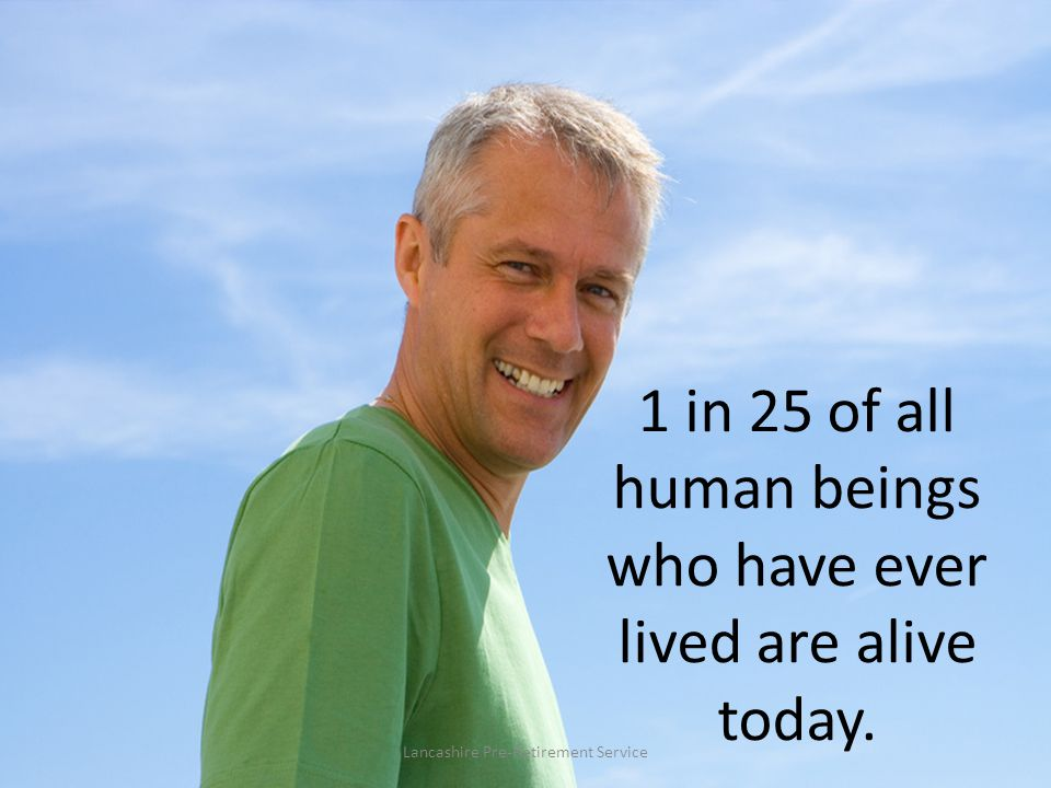 1 in 25 of all human beings who have ever lived are alive today.