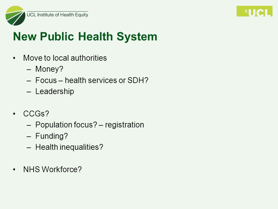 New Public Health System