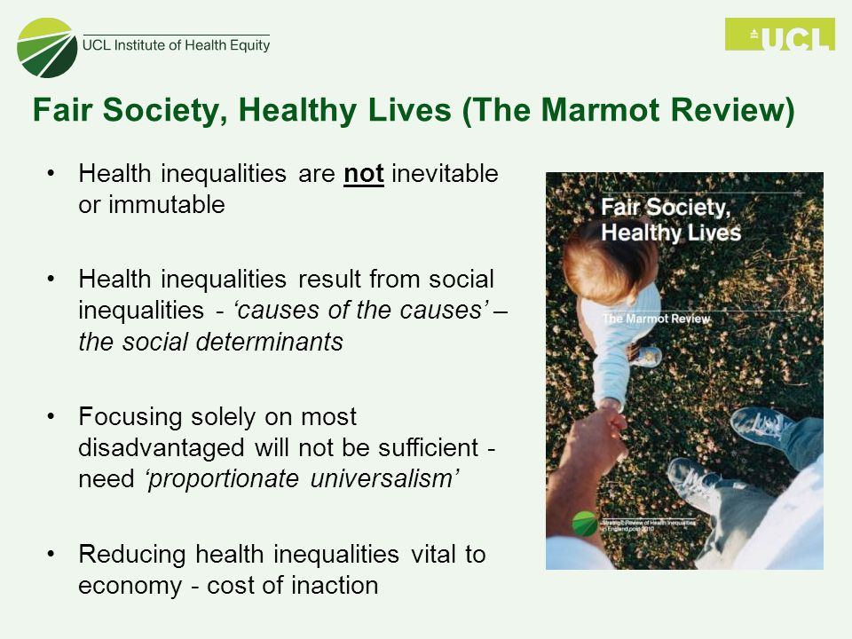 Fair Society, Healthy Lives (The Marmot Review)