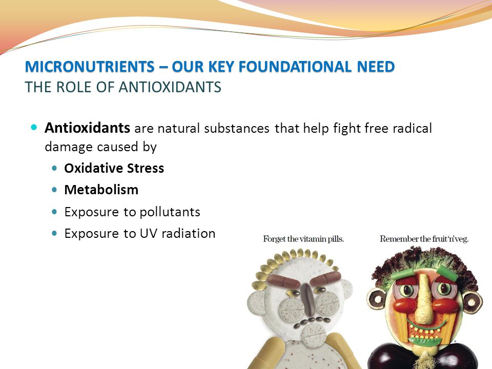 MICRONUTRIENTS – OUR KEY FOUNDATIONAL NEED THE ROLE OF ANTIOXIDANTS