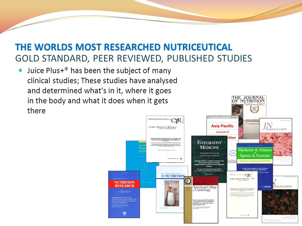 THE WORLDS MOST RESEARCHED NUTRICEUTICAL GOLD STANDARD, PEER REVIEWED, PUBLISHED STUDIES
