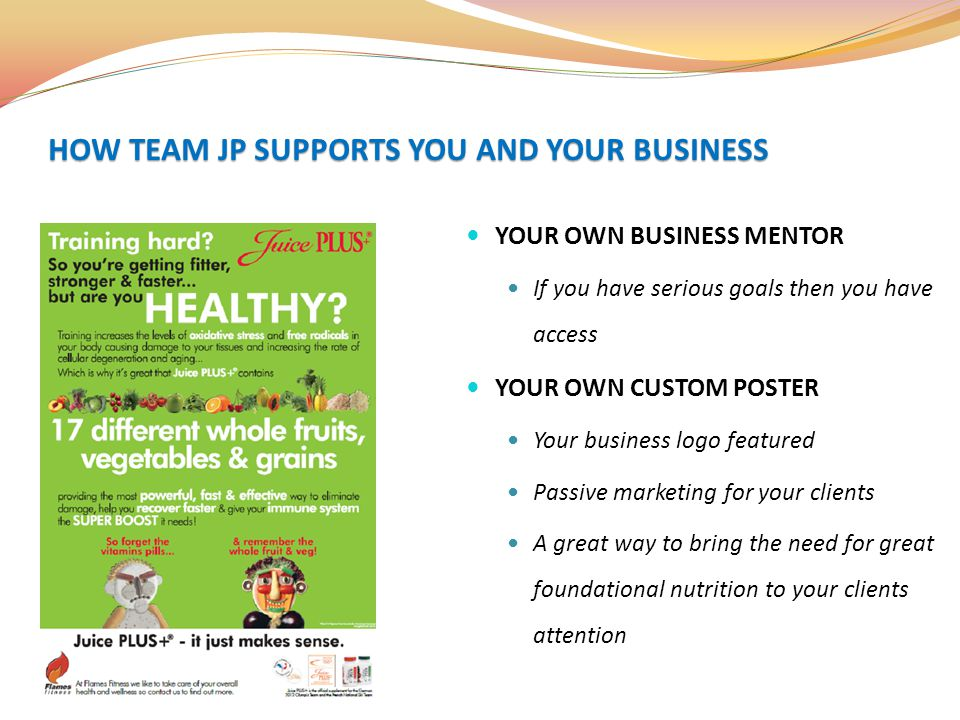HOW TEAM JP SUPPORTS YOU AND YOUR BUSINESS