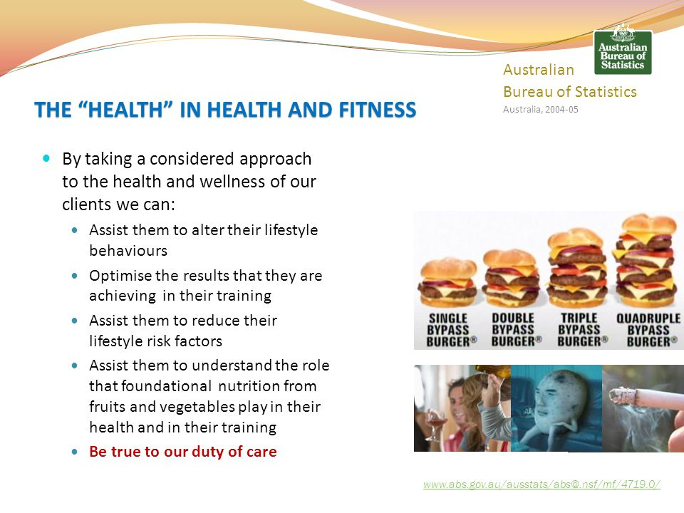 THE HEALTH IN HEALTH AND FITNESS
