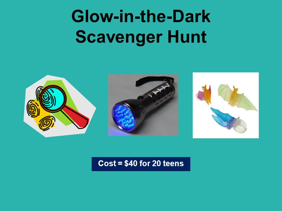 Glow-in-the-Dark Scavenger Hunt