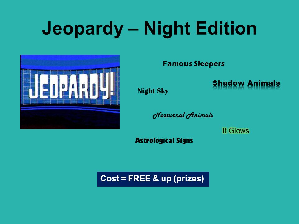Jeopardy – Night Edition