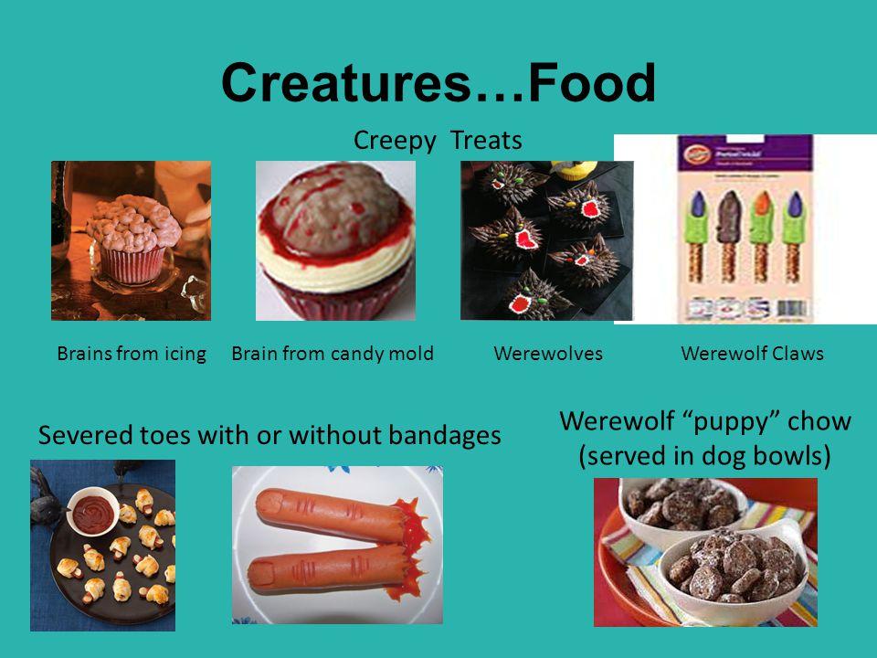 Werewolf puppy chow (served in dog bowls)