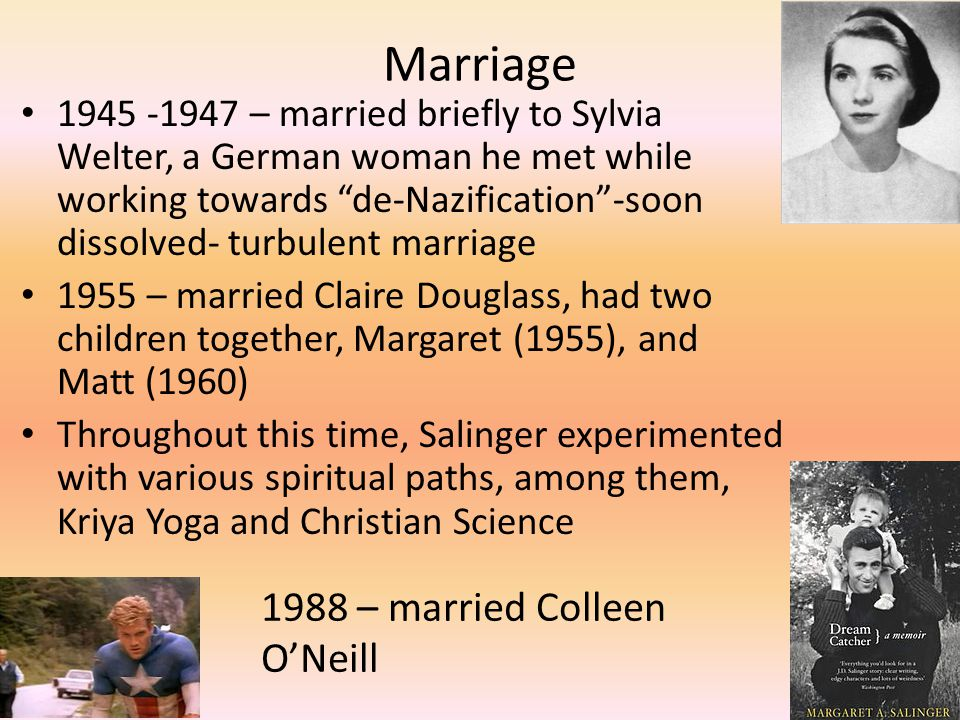 Marriage 1988 – married Colleen O'Neill