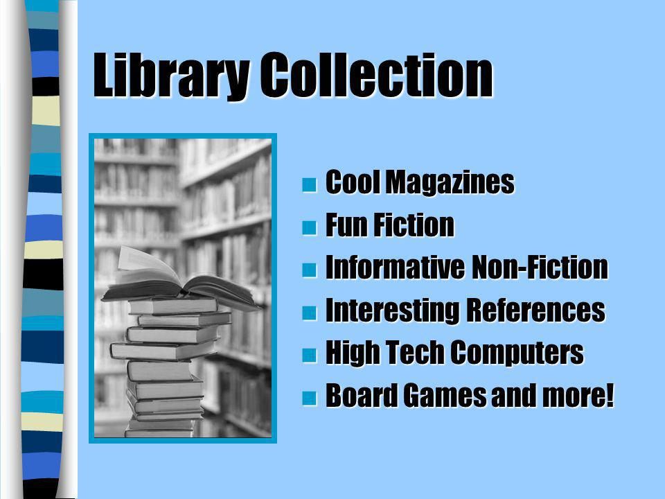 Library Collection Cool Magazines Fun Fiction Informative Non-Fiction