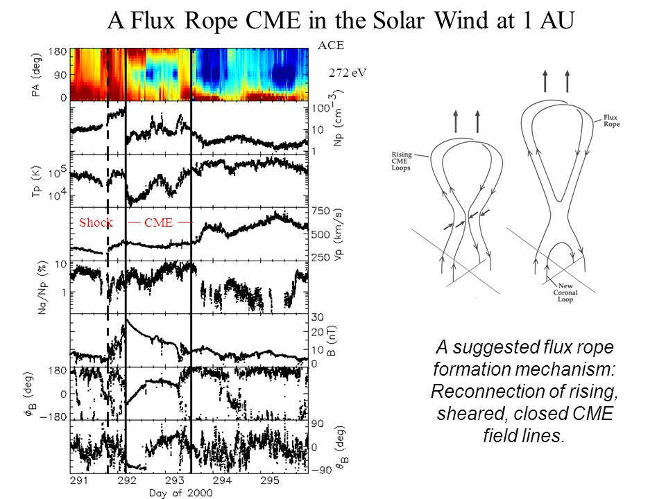 A Flux Rope CME in the Solar Wind at 1 AU