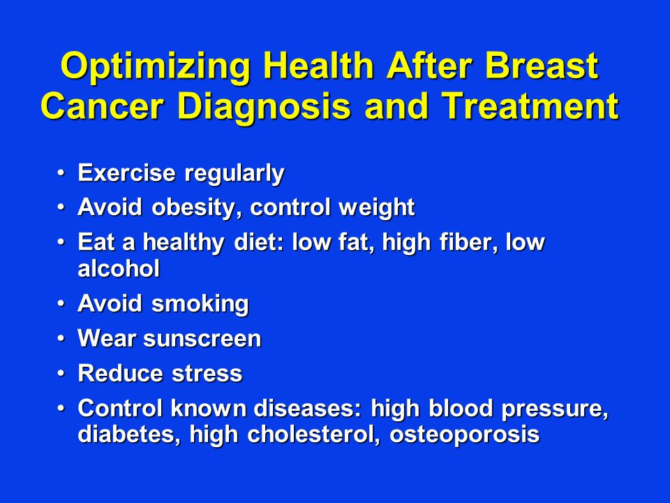 Optimizing Health After Breast Cancer Diagnosis and Treatment