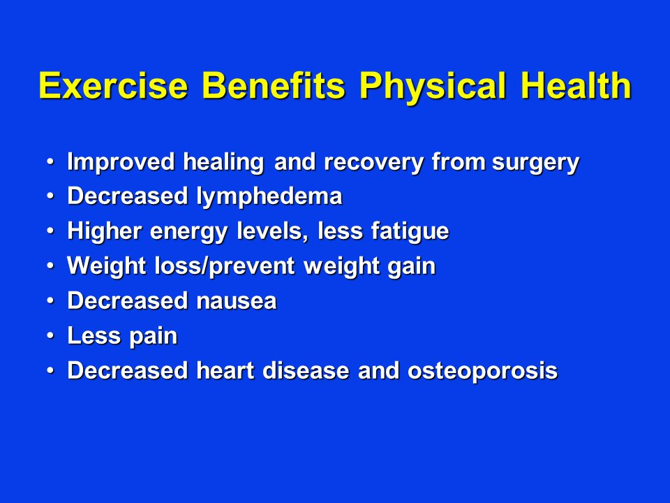 Exercise Benefits Physical Health